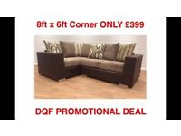 •••• NEW DQF PROMO DEAL: 8x6ft Corner ONLY £399 ••••