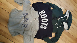 3 sweaters size...small/med  20.00 for 3