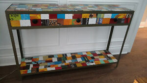 Stamped Tin sofa or hallway table