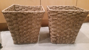 Two Waste Paper Baskets in Rattan Multi Use (2 for $5)