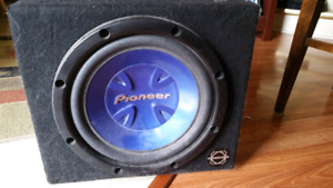 Pioneer sub and amp
