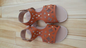 Brand New Size  2 girls faux leather sandals