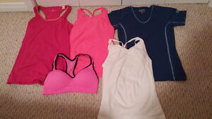 Ladies size small work out tops lot