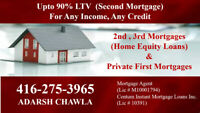 2nd / 3rd Mortgages  Upto 90% LTV for  Bad /Any Credit Ok