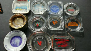 Vintage ashtrays 1970s tramp art stash box