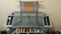 Art / Drafting Table. Tilting Glass with Storage Trays