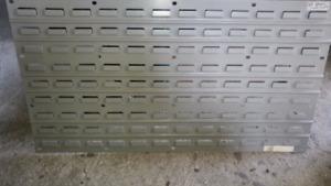 Rack a bin/bac en plastic