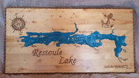 Handmade Wooden Topographical Maps!