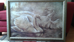 """""""Swans"""" wall hanging"""