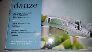 danze  Chrome Finish Two Handle Kitchen Faucet - new in box