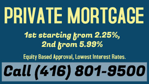 2nd Mortgage from 6.99% only. Call or Text me at (416) 801-9500