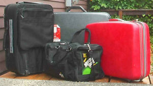 Black suitcases, Gripsack, Sport bags, Back packs