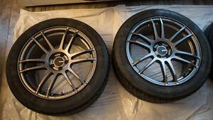 "Enkei TSP6 Wheels (18"" x 8.5"") with Bridgestone Tires"