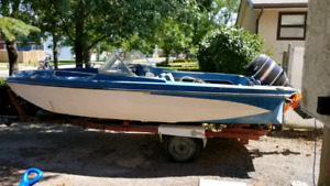Glastron open bow with mercury 100 hp outboard