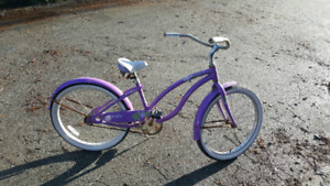 Girls youth beach cruiser bike