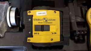 Stabila LAX200 self-leveling laser level with REC210 reciever