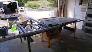 Cabinet saw dewalt and Excalibur sliding table