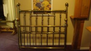 Queen size solid brass bed designed and built in Toronto - 1976