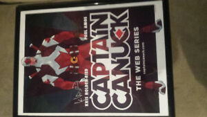 Captain Canada signed poster