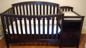 Convertible Crib and Change Table Combination