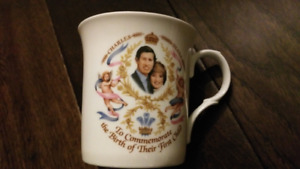 Prince William, Queen mugs, Prince Charles Princess Diana plate
