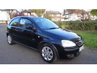 VAUXHALL CORSA SXI 16V TWINPORT - 2 KEYS SUPPLIED 2005 Manual 67613 Petrol Black