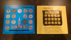 Shell Canada The Prime Ministers Of Canada 1867-1970 Medallions Kitchener / Waterloo Kitchener Area image 1