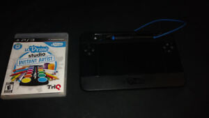 PS3 uDraw game and tablet