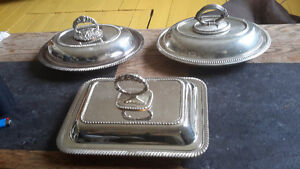Vintage Silver Plated Serving Dishes