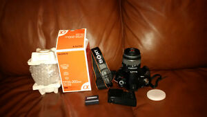 Awesome Sony Alpha 230 with two sets of lenses