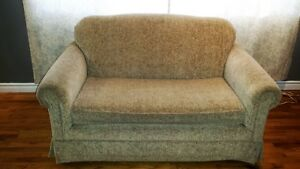 Love seat bed and chair