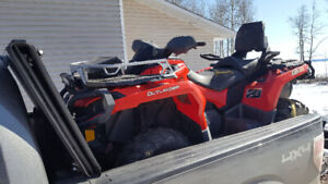 2013 CanAm Outlander MAX XT with plow.