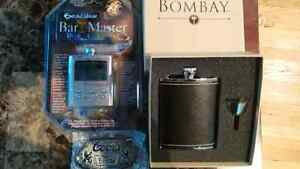 flask with funnel,  digital bar master with drink recipe!!! Peterborough Peterborough Area image 2