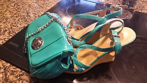 nine west shoes and matching purse
