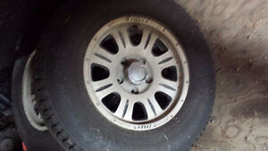 Studded Nokian winter tires & rims