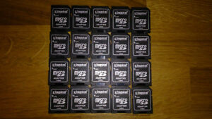 20 identical genuine Kingston microSD to SD card adapters