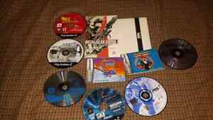 For sale, disc games with some scratches plus video games manual