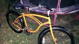 Rare orange Raleigh retroglide single speed cruiser