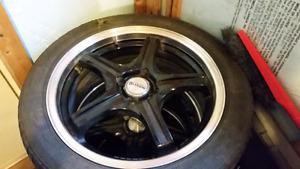 Plusieurs pneus