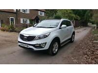 Kia Sportage 1.6 GDi ( 2WD ) 2013 63 plate pan roof side steps privacy glass