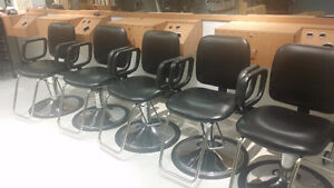 Salon Styling, Shampoo Chairs and washer and dryer