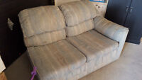 Free Blue Couch (Half Sectional)