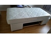 Single divan bed with drawer and mattress