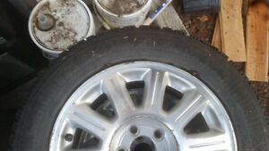 4 studded winter tires on newer rims Prince George British Columbia image 1