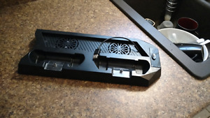 Ps4 charging port with double fan cooling