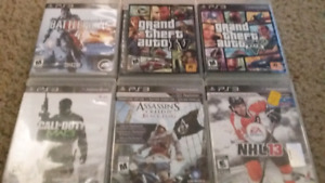 Ps3 games all 6 - $25