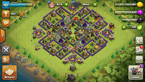 CLASH OF CLANS ACCOUNT - LVL 102 TH9