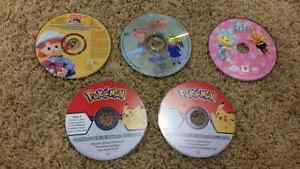 Pokémon and other kid DVDs