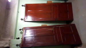 Two antique pocket doors