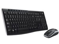 Logitech Wireless Combo Keyboard And Mouse MK270 NEW